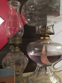 oil lamps in different shapes and in great condition Kensington