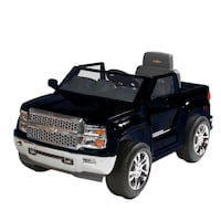USED Rollplay Chevy Silverado 6 Volt Ride On Vehicle Black Round Rock