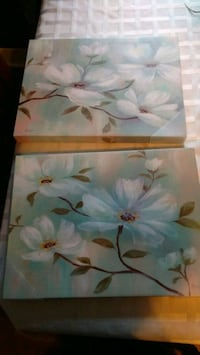 Pair of flower paintings Edmonton, T6H 2X8