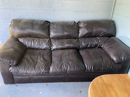 Free Free black couch. Its comfortable. Does have wear (see pictures)