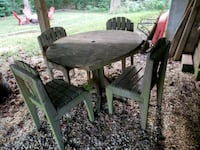 Wooden Patio Table with 4 Chairs Bowie, 20715