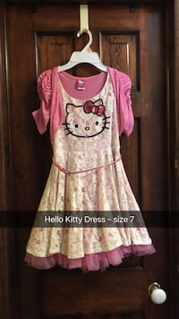 Kids Girl's pink and white hello kitty dress Upper Merion, 19087