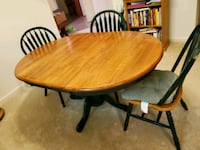 Table with center leaf and 6 chairs Sterling, 20166