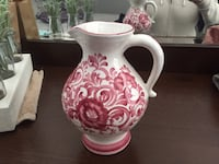 White and pink floral ceramic pitcher- made in Austria  Calgary, T3G 5K8