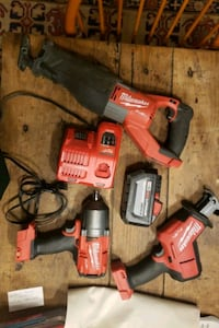 Miwalkee power tools: Sawzall Impact Driver Hackzall battery charger