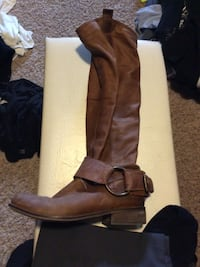 Women's brown leather wide-calf boot Sioux Falls, 57106