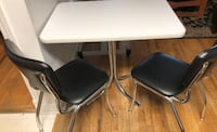 Newer white table and 2 chairs 50's diner style!! Point Pleasant Beach, 08742