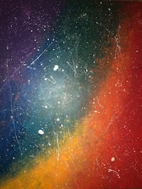 Colourful galaxy acrylic painting  Mississauga, L5V