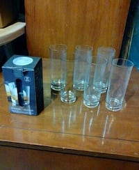 6Tom Collins Glasses with ice cube mold Oakville, L6H