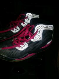 black-and-red Nike running shoes Sherrills Ford