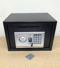"New $50 Depository 14""x10""x10"" Digital Security Safe Box Electric Keypad Lock w/ Master Key 2259 mi"