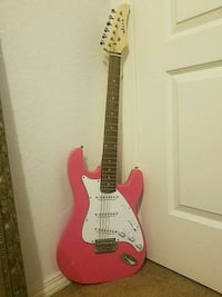 Pink and white stratocaster electric guitar Albuquerque, 87121