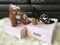 Brand new brown or black Just Fab sandals Guelph, N1G 0E3