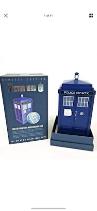 Dr Who 50th Anniversary Silver coin Collectable Tardis new