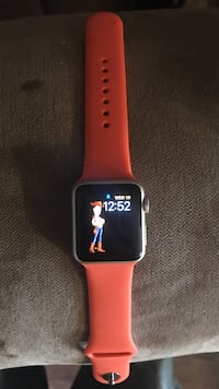 red Apple Watch with red sports band Ingleside, 60041