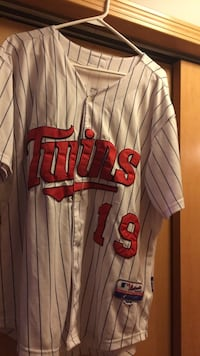 DISCOUNTED!! twins 19 printed baseball jersey Valencia AUTHENTIC