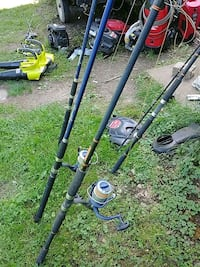 Two surf rods and reels
