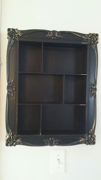 Black and gold shelves with frame Addison, 60101