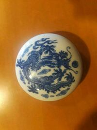 white and blue ceramic plate Phoenix, 85018