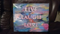 Live Laugh and Love wall art London, N6B 1G8