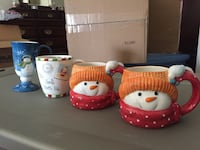 NEW! Adorable Holiday Mugs.All dishwasher and microwave safe. Never used.  $15 for all four or best offer. Please also see my other items  Thanks! Camp Hill, 17011