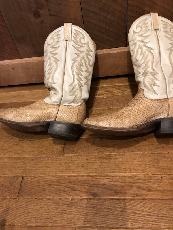Snakeskin & Leather Boots Men's Size 9 / Genuine Dan Post Boots ad2752cc-38ee-4daa-bb51-78d426d7e421