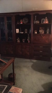 brown wooden display cabinet with cabinet Loganville, 30052