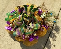 Mardi gras wreath Barksdale Air Force Base, 71110