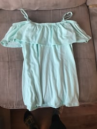women's green spaghetti strap shirt