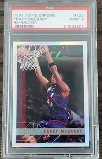 TRACY MCGRADY 1997 TOPPS CHROME REFRACTOR ROOKIE PSA 9