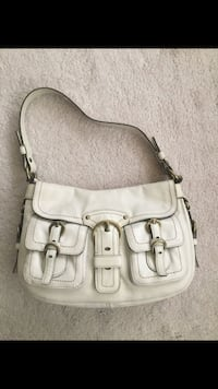 White leather Coach purse Leesburg, 20175