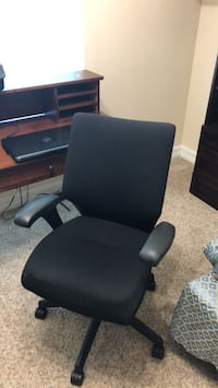 black and gray rolling armchair Clermont, 34714
