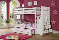 Bunk bed twin/ twin storage ladder & trundle Norcross, 30093