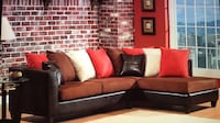 red and black sectional couch West Palm Beach, 33409