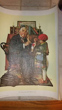 Norman rockwell painting on canvas Berkeley Springs, 25411