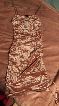 Brand New F21 Rose Gold Satin Dress