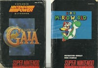 8 Super Nintendo SNES Manuals $65 for the lot or $10 each Pick-up in Newmarket  -  Illusion of Gaia -  Super Mario World -  Donkey Kong Country 3 Dicie Kong's Double Trouble -  Super Mario All Stars  -  Sub-Zero Mortal Kombat Mythologies -  Ultima Runes o Newmarket