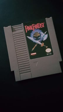 Final Fantasy Nintendo Game cartridge