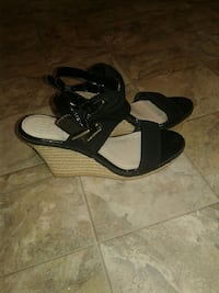pair of black peep-toe wedges Pittsburgh, 15202