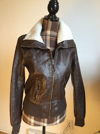 Brand new brown leather jacket in small Montréal, H1M 1S1
