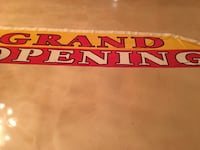 grand opening and we buy gold flag banners
