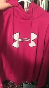 pink Under Armour pull over hoodie