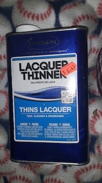 Lacquer thinner original price 6.50 Cranston