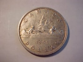 Young Queen Elizabeth 2nd 1959 Silver $