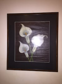 three white calla lily flowers painting Madison, 53703