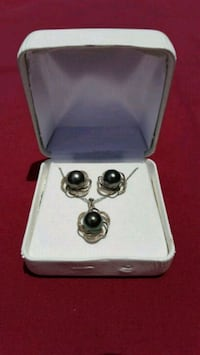 SS Tahitian Cultured Pearl Earring/Pendant Set