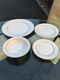 Moving Sale: 10 Place Settings White and Silver Fine China La Mirada, 90638
