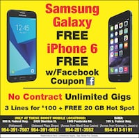 We are giving away free devices free iPhone free galaxies Hollywood, 33020