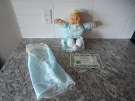 """1985 Cabbage Patch Preemie Doll """" Beulah Serena"""" Comes with Birth Certificate. Some surface marks/wear. Displays Great! Super Cute ;) $40 PU Morinville"""
