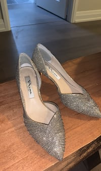 Sparkling Kitten heel shoes . Price is negotiable
